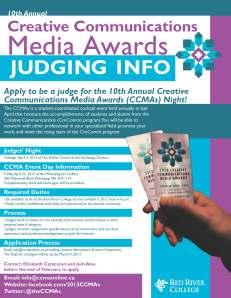 Creative Communications Media Awards Judging Info fact sheet