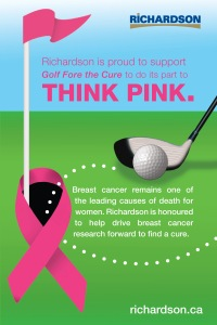 Golf Fore the Cure ad for Richardson International