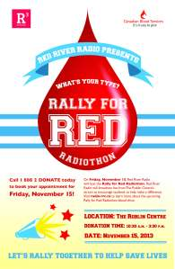 Rally for Red Canadian Blood Services blood drive poster
